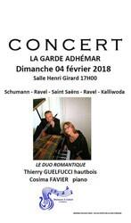 Concert du Duo Romantique à La Garde Adhémar | Musiques et Culture